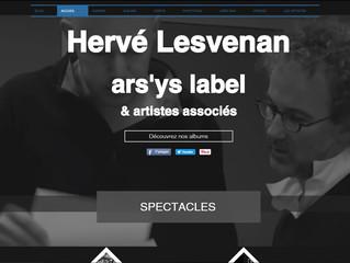 Tout nouveau site internet d'Hervé Lesvenan et du collectif ars'ys, découvrez le, et partage
