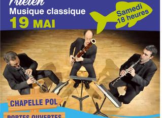TRIELEN un trio à vents qui décoiffe ce samedi 19 MAI à BRIGNOGAN 18h00 !!!