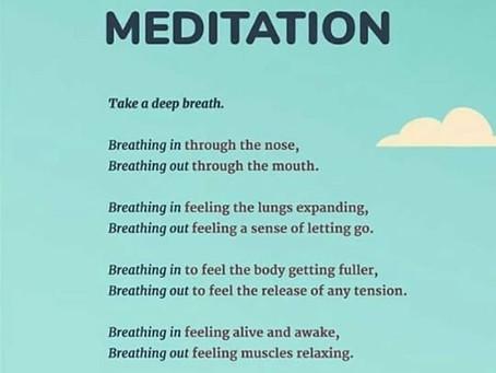 Just a few deeps breaths....