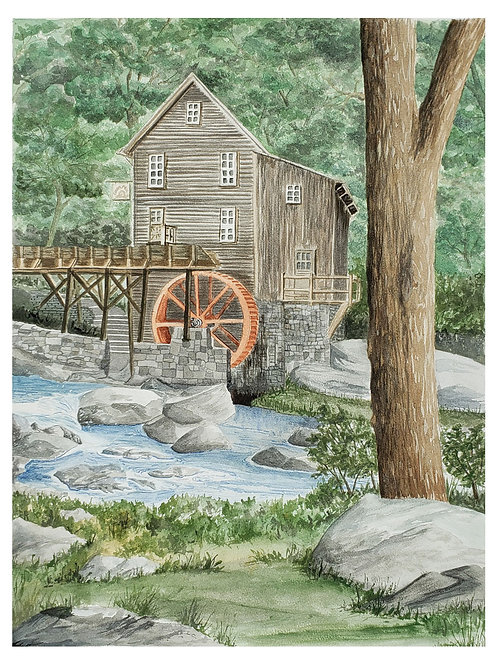 Summer at the Glade Creek Mill