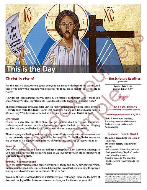 Unit 6: Lesson 6: Pascha: The Resurrection
