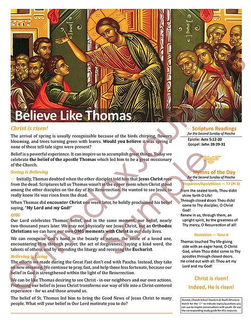 Unit 7: Lesson 1: St. Thomas Sunday