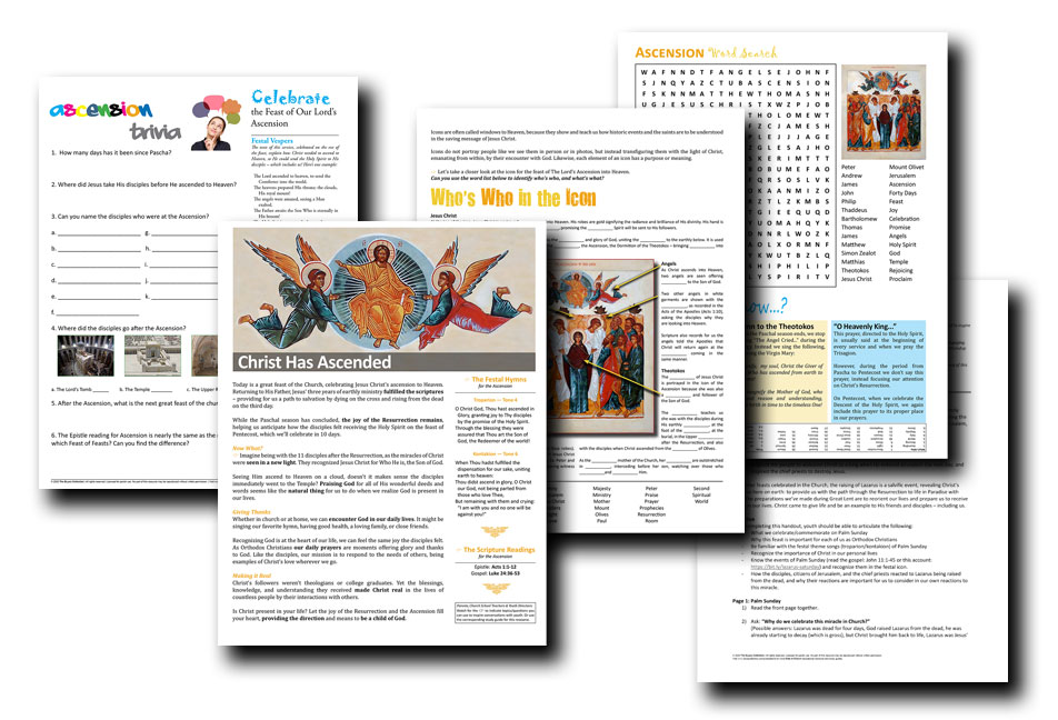 Full-color Weekly Handouts