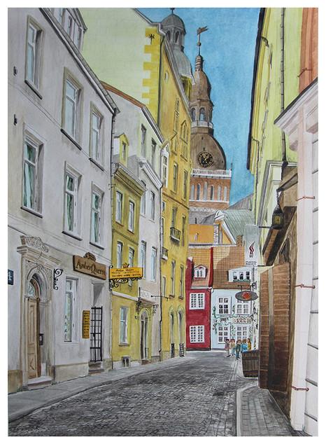 Krāmu iela in the Old City