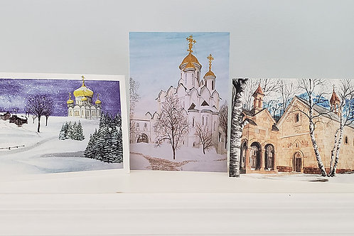 Winter Churches: Christmas Cards