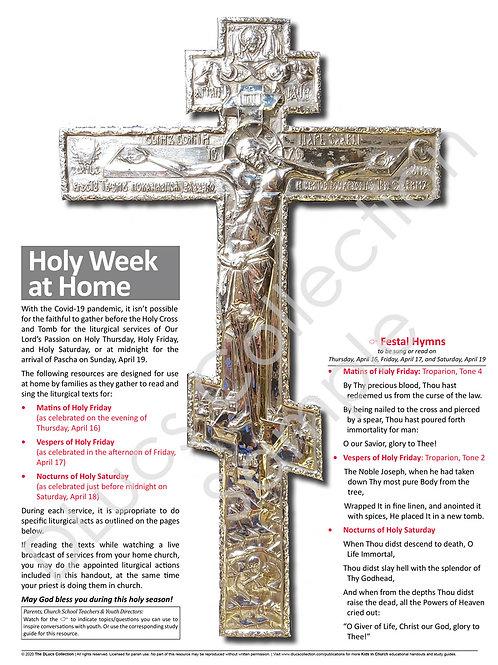 Holy Week at Home