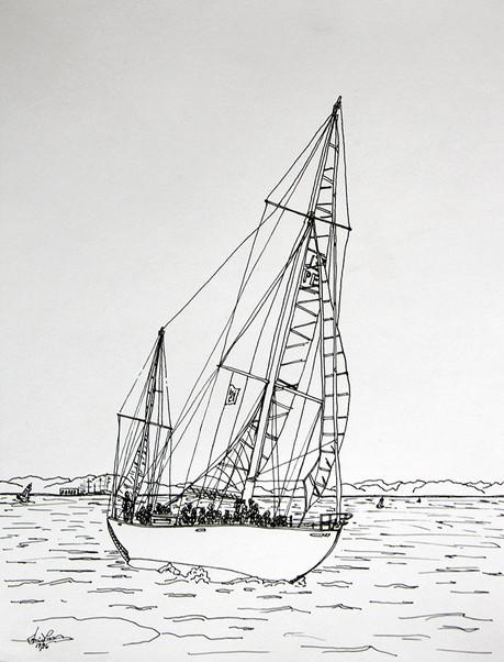 Sailing in New York Harbor