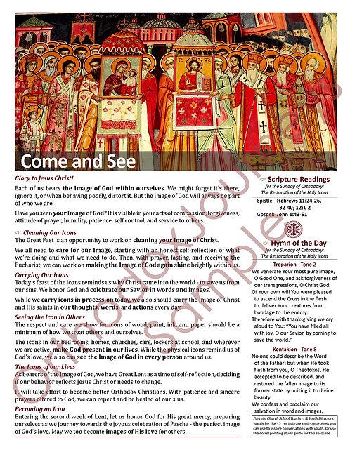Unit 5: Lesson 6: Sunday of Orthodoxy