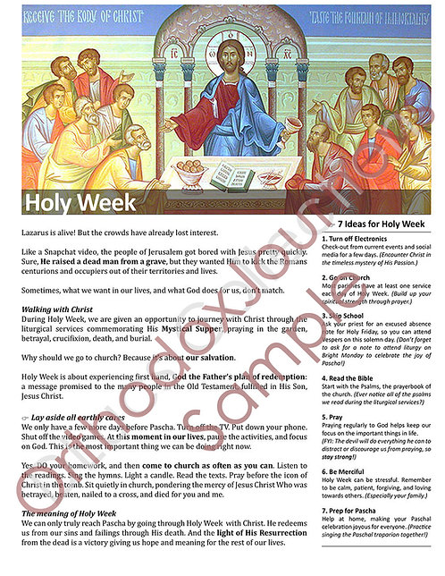 Holy Week: A Daily Journey For Youth