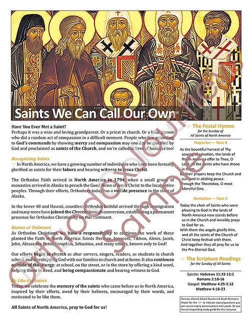 Sunday of All Saints of North America