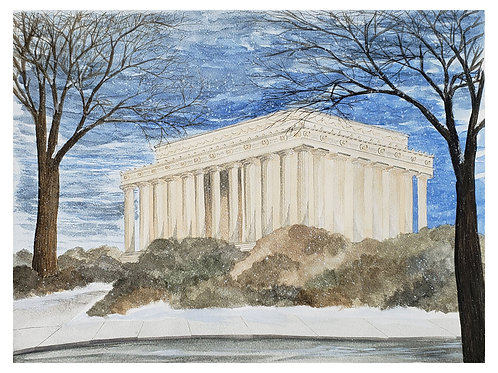 Lincoln Memorial in Winter