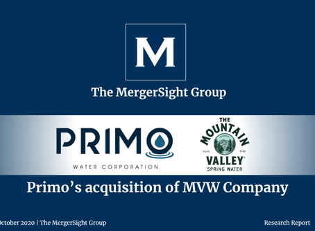 Primo Water Corporation acquires Mountain Valley Water Company