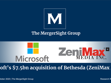 Microsoft's $7.5bn Acquisition of Bethesda (ZeniMax Media)