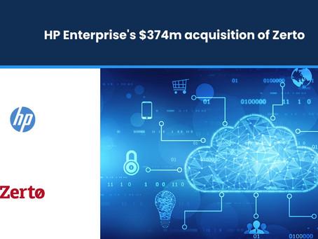 HP Enterprise's $374m Acquisition of Zerto