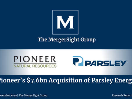 Pioneer's $7.6bn Acquisition of Parsley Energy