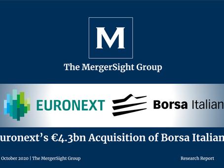 Euronext's €4.3bn acquisition of Borsa Italiana