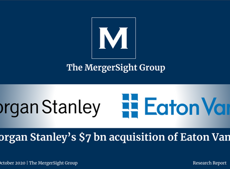 Morgan Stanley's $7bn acquisition of Eaton Vance