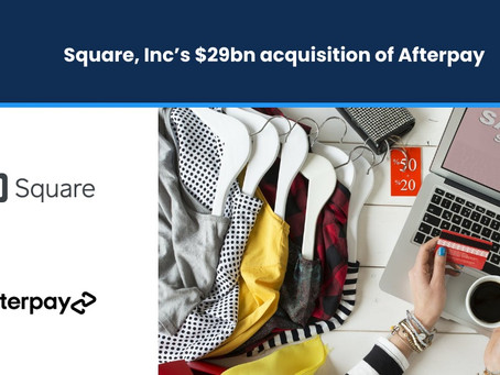 Square, Inc's $29bn Acquisition of Afterpay