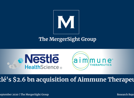 Nestlé's $2.6 Billion Acquisition of Aimmune Therapeutics