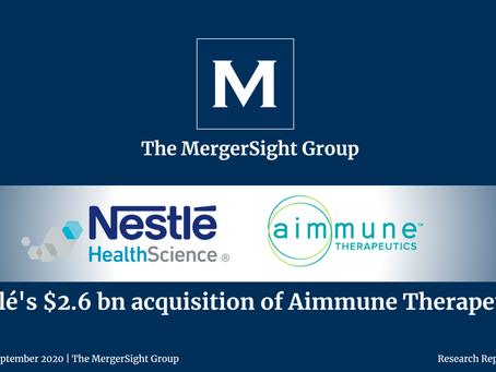 Nestlé's $2.6 Billion Acquisition of Aimmune Therapeutics