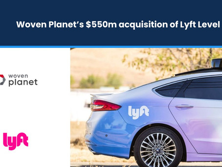 Woven Planet's $550mn Acquisition of Lyft Level 5
