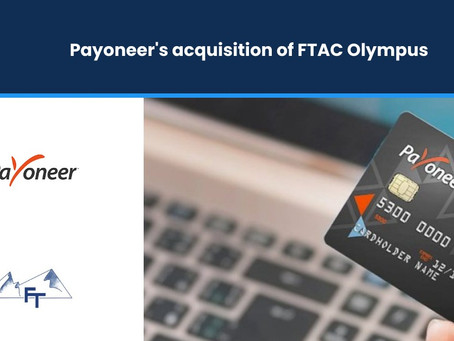 FTAC Olympus's $3.3bn Acquisition of Payoneer
