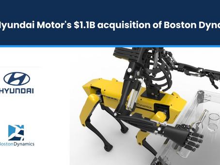 Hyundai Motor $1.1Bil Acquisition of Boston Dynamics