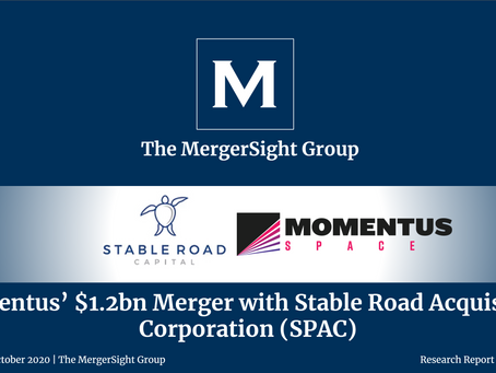 Momentus' $1.2bn Merger with Stable Road Capital's SPAC