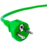 Grön el sladd