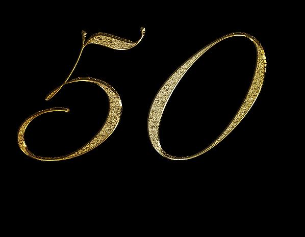 50 i glittriga siffror