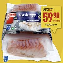 Erbjudande på torsk
