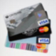 Hög med kreditkort