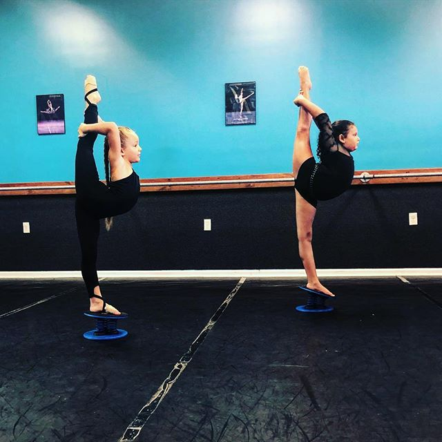 Balance buddies!! Kortlyn and Natalie wi