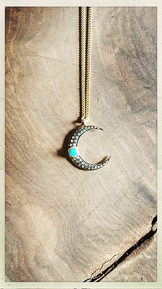 Crescent Moon Turquoise