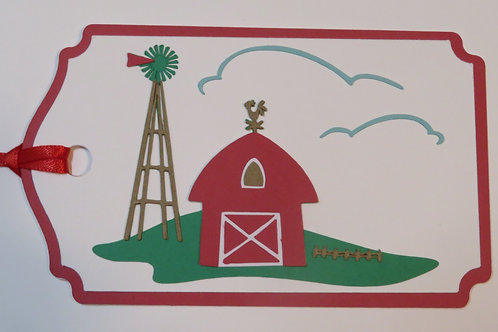Life in the Country Barn Gift Tag