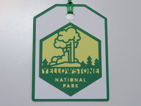 Yellowstone National Park Gift Tag