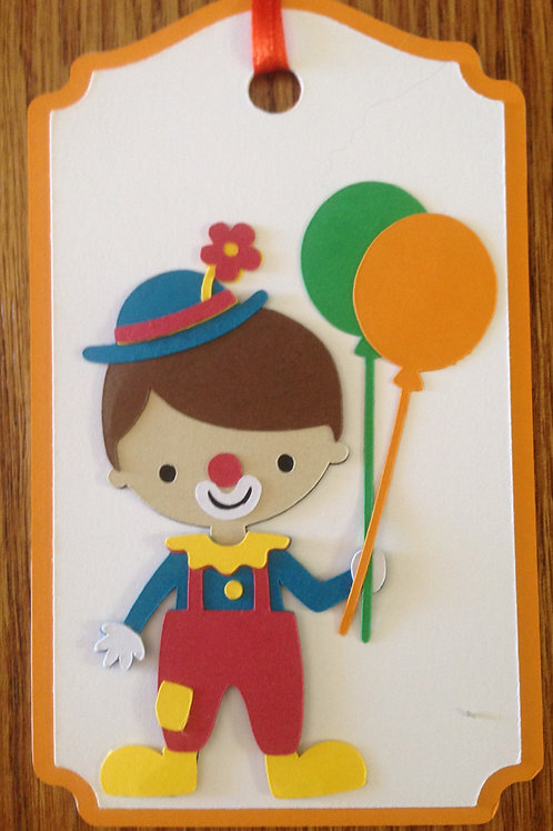 Colorful Clown Gift Tag