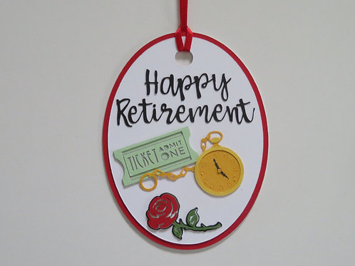 Happy Retirement Gift Tag
