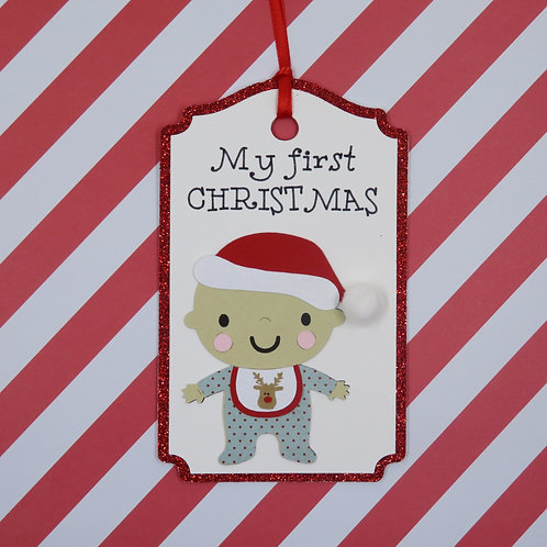 My First Christmas Toddler Boy Gift Tag