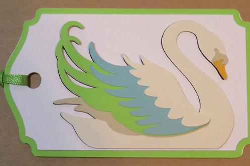 Art Nouveau Swan Gift Tag
