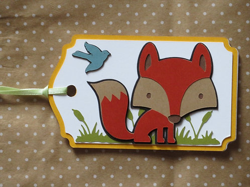 Woodland Forest Animal Fox Gift Tag