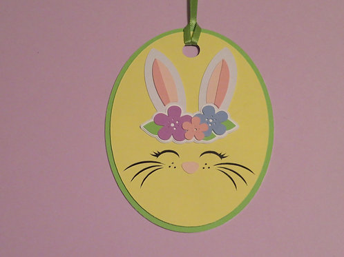 Bunny Face Gift Tag