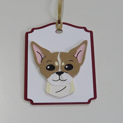 Chihuahua Face Gift Tag