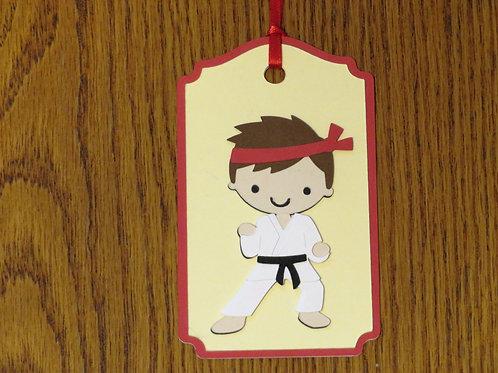 Karate Kid Gift Tag