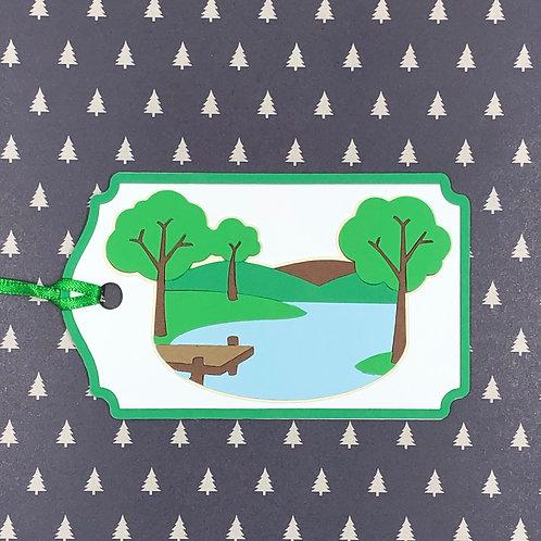 Beautiful Lake Scene Gift Tag