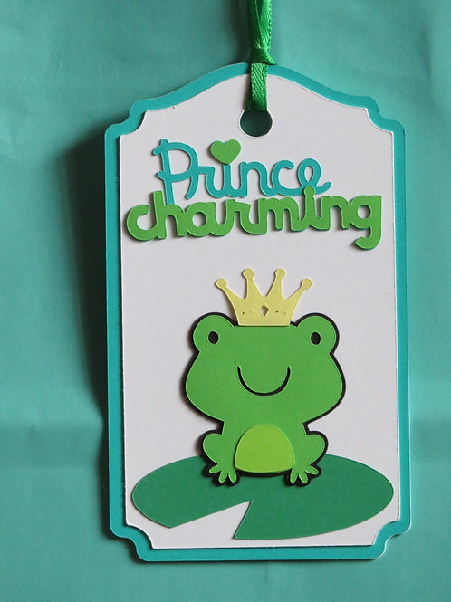 Prince Charming Frog Toad on Lilypad Gift Tag