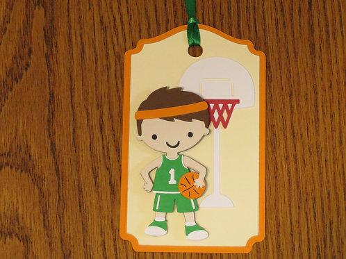 Basketball Star Gift Tag