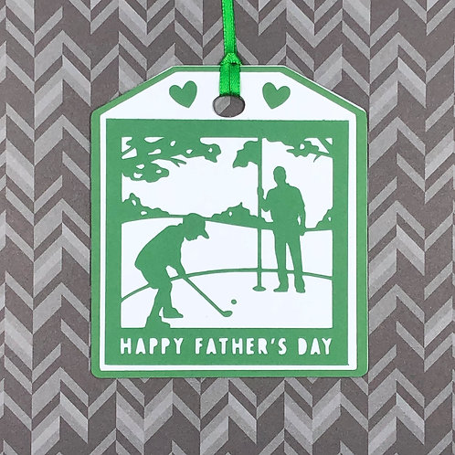 Happy Father's Day Golf Gift Tag