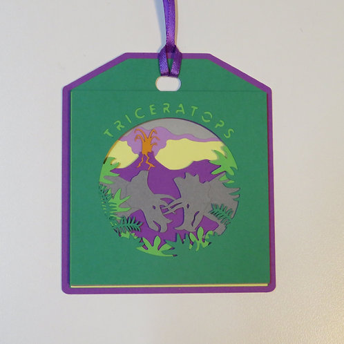 Triceratops Gift Tag