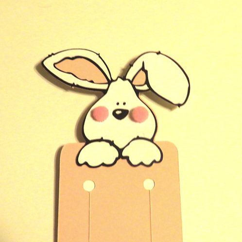 Adorable Puffy Cheeks Bunny Bookmark
